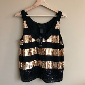 Sequin shell tank top